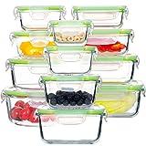 GENICOOK Glas-FrischhaltedosenSet-Glasbehälter/Brotdose/vorratdose/Aufbewahrungsbehälter - BPA...