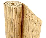 Bambus-Discount Schilfrohrmatte Beach als Balkon Sichtschutz mit 80 x 600cm - Sichtschutzmatte...