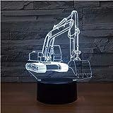 Bagger-Styling Nachtlicht Led 3D Optische Täuschung Touch Control Light 16 Farben Ändern...