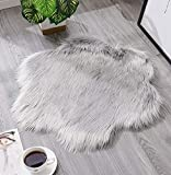 Tomatoa Teppich aus Schafsfell Shaggy Faux Fleece dekorativ Teppiche Plschteppich Schlafzimmer Sofa...