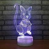 3D Optische Illusions Lampen Ses Tier Schreibtisch Tischlampe 7 Farb-Touch-Lampen-fr Kinder...