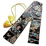 Fclieng Tragetasche für Katana Samurai Wakizashi Tanto Schwert mit Goldener Quaste, 134,3 cm B