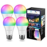 LE WLAN Lampe E27, 9 W Intelligente Glühbirne, WiFi, Alexa, 806 lm, RGB Farben mit Warmweiß,...