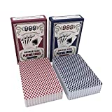 Jiyou [Professionelle Solitaire] 2Set / Lots Qualitäts-Plastik Poker Set Frosting Wasserdicht Texas...