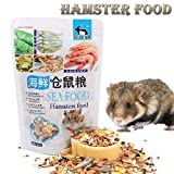Tonsee Hamsterfutter Hamster Snack Seafood Food Pet Hamster 400g