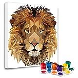 'N/A' Malen Nach Zahlen Erwachsene DIY (Polygon Lion)