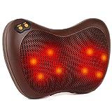 Elektrischer Massagekissen, Shiatsu-Massagegerät mit 8 Köpfe, 3 Geschwindigkeiten, 15 Minuten...