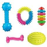 Comius Spielzeug für Welpen, 4 Pcs Pet Molar Spielzeug Einstellen aus Naturkautschuk Zahnreinigung...