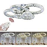 VINGO 96W LED Kristall Deckenleuchte Deckenlampe Modern Kronleuchter Pendelleuchte Hängeleuchte...