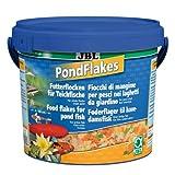 JBL Futterflocken PondFlakes 40197, Hauptfutter fr alle Teichfische, 1er Pack (1 x 5,5 l)