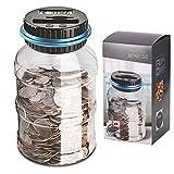 Frontoppy Digitale Spardose per EUR, automatische Münze Geldkassette für Kinder und Erwachsene,...