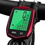 KOROSTRO Wasserdicht Fahrradcomputer Kabellos Tachometer LCD Backlight Drahtloser Sport Fahrrad...