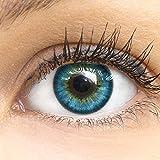 Blaue Farbige Kontaktlinsen Fresh Blue Blau Sehr Stark Deckende SILIKON COMFORT NEUHEIT von GLAMLENS...