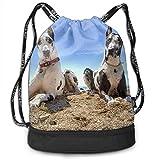 Leila Marcus Kordelzug-Rucksack, mit Kordelzug, hübsche Hundetaschen, zur Aufbewahrung von Hunden...