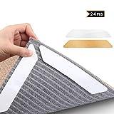 MojiDecor Antirutschmatte für Teppich, 24 Stück Anti Rutsch Teppichunterlage + 24 Stück...
