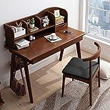 WUJIAN Hochstühle Schlafzimmer Studenten Schreibtisch mit Bücherregal aus Holz Arbeitstisch...