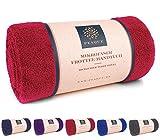 PEAQUE Microfaser Handtuch Frottee XL, Sauna-Handtuch, Bade-Handtuch, Reise-Tuch (Red, Weinrot, Rot,...