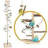Zimmerhoher Vogel-Kletterbaum 250-252 cm HiFly Medio mit Naturholz-Sitzstangen, Vogel-Spielzeug,...