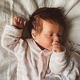 JUYHTY 18 Zoll 48Cm Reborn Babypuppen Mädchen Real Life Babypuppen Weiches Silikon Schlafen...