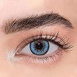 GO MAXIY GIRL - Dunkel farbige Jahreslinsen (stark deckend) ohne Stärke Farbe'Wassertropfen' -...
