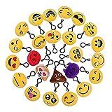 QH-Shop Emoji Schlüsselanhänger, Emoji Plüsch 6cm Mini Plüsch Kissen für Geschenk Auto Rucksack...