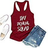 Allegorly Damen Unisex Casual Kurzarm Tops Day Trinkhemden Girls Weekend Tank Top Damen Sommer...