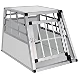 EUGAD Hundebox Transportbox Hundetransportbox Alu Reisebox Gitterbox Box L 69 x B 54 x H 50 cm...