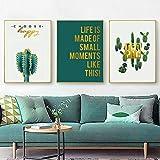 Green Cactus Wall Art mexikanischen Poster Western Decor Wohnzimmer Hintergrund wählen Sie...