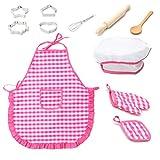 WBTY 11-teiliges Koch-Spielset für Kinder, Koch- und Backset, Kochmütze, Ofenhandschuh,...