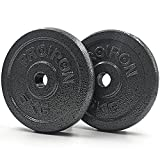 PROIRON Hantelscheiben Set Gusseisen, 1,25kg/2,5kg/5kg/10kg Guss Scheiben Gewichte Hantel Sets,...