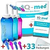 iQ-med Nasendusche 500ml + 33x Salz + Rezeptbuch + 4 Aufstze (rosa)
