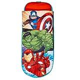 Avengers Junior-ReadyBed – Kinder-Schlafsack und Luftbett in einem, Polyester, Red, 150 x 62 x 20...
