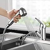 BONADE Küchenarmatur ausziehbar mit Dual-Spülbrause 360° Drehbar Wasserhahn Küche...