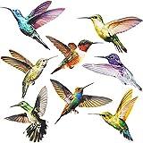 SURUDI 16 Stück Fensterbilder Selbstklebend, Fenstersticker Kolibri, Wintergarten Vogelschutz...