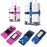Koffergurt, Mture Gepäckgurt Einstellbare Kofferband Travel Accessories Kofferband Gepäckband zum...