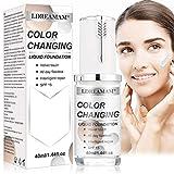 Flüssige Grundierung,Foundation Color Changing,Concealer Abdeckung, Make up Concealer für Gesicht...