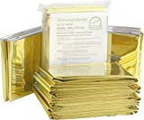Medi-Inn Rettungsdecke gold silber | 160 x 210 cm | Notfalldecke für Erste Hilfe | Kälteschutz |...