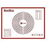 BSET BUY Backmatte, BPA Frei Silikon Backunterlage, Silikonmatte Backfolie Arbeitsmatte mit Messung...