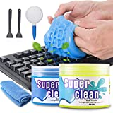 2 Stck Tastatur Reinigung Keyboard Cleaner Universal Cleaning Gel Super Clean Quickly Remove Stains...