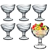 Bormioli Rocco Acapulco-Becher für Eiscreme, Desserts, Vorspeisen, Cocktails, 6 Stück