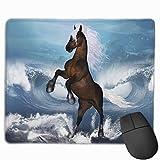 Mausunterlage Horse On The Beach Rutschfeste Gummibasis Verärgert Wasserdichte Mausunterlage für...