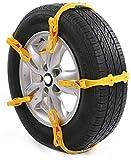 Wangcong Schneeketten für Reifen, Reifentraktionskette, Universal Auto Schneeketten Tragbare...