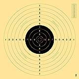 OpTacs Pistolen-/ Kleinkaliberscheibe 55 x 52 cm mit Einsteckschlitz - 50er Pack