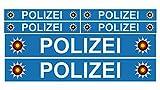 Finest Folia 6 x Polizei Auto Boot Caravan Bus Bike Fahrrad Aufkleber Plakette RC Car Modellbau...