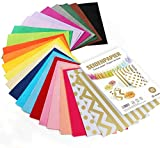 Sweelov 500 Blatt Seidenpapier 25 Farben bastelpapier A4 Buntes Papier Transparentpapier zum Pompoms...