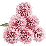 CQURE Künstliche Blumen,Unechte Blumen Künstliche Deko Blumen Hortensien 6 Köpfe kunstblumen...