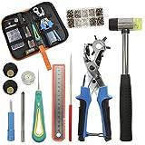 KEAYOO Revolverlochzange - Lochzange für Leder, Gürtel, Papier, Kleidung zur Dekorieren und...
