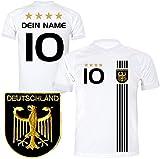 DE FANSHOP Deutschland Trikot mit GRATIS Wunschname + Nummer #D5 2021 2022 EM/WM weiß - Geschenk...