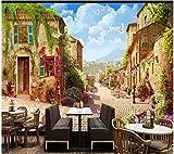 Tapete Dreidimensionale Retro-Architektur Landschaft Hintergrund Tapete Wandbild 3d Tapete-120 *...