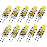 10Er Pack G4 2W LED Lampen, 210Lm, 2W Ersetzt 20W Halogenlampen, Nicht Dimmbar, Warmweiß(2900K),...
